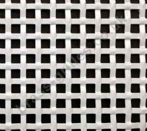 Interwoven Effect Square White Grille Powder Coated Aluminium Sheet 1000mm x 660mm x 1.5mm